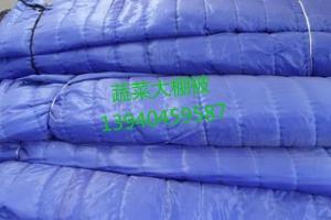 蓝色防雪羊毛毡棉被